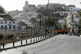 Las obras del puerto podrían retrasar el cambio de dirección de la avenida de Santa Eulària