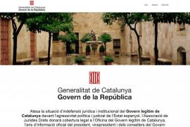 Puigdemont publica la web Govern de la República en paralelo a la oficial