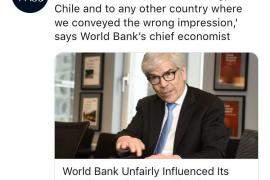 El Banco Mundial reconoce que perjudicó a Chile alterando el índice de competitividad