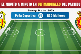 Penya Deportiva-Real Mallorca, en directo