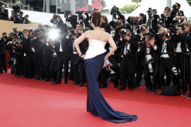 "Bollywood actress Rai Bachchan arrives on the red carpet for the screening of the film ""Sleeping Beauty"" at the 64th Cannes Film"