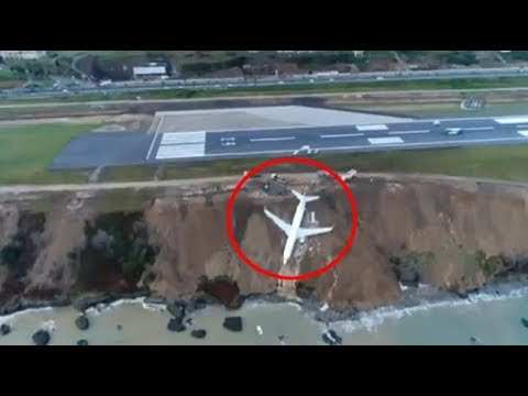 Un avión con 162 pasajeros a bordo cae por un acantilado en Turquía