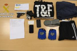Detenido el presunto autor de tres atracos en Santa Ponça con arma simulada