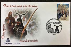 Presentan el sello de Correos dedicado a las fiestas de Sant Antoni de Artà