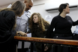 La Corte militar extiende la detención de la adolescente palestina Ahed Tamimi
