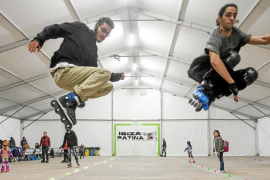 Dos días de patinaje 'indoor' para pedir una pista que se pueda usar todo el año en Ibiza