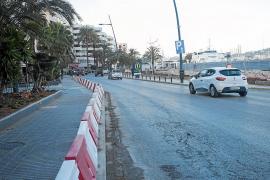 Una de las aceras de la avinguda Santa Eulària se habilitará como vial temporal de circulación
