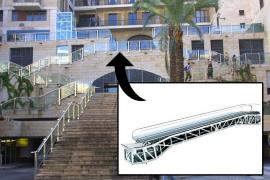Pros y contras de la rampa mecánica de la Plaça Major, según los lectores