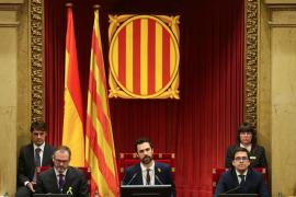 Torrent elude referencias a la república en su primer discurso como presidente del Parlament