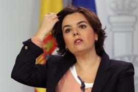 Sáenz de Santamaría: «Puigdemont llegó al final del trayecto y no va a ser president»