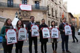 La ola de vandalismo en Palma ha costado 17.500 euros en contenedores calcinados