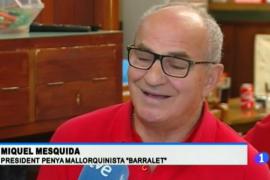 Las declaraciones del presidente de la Penya Barralet en TVE encienden a los balearicos