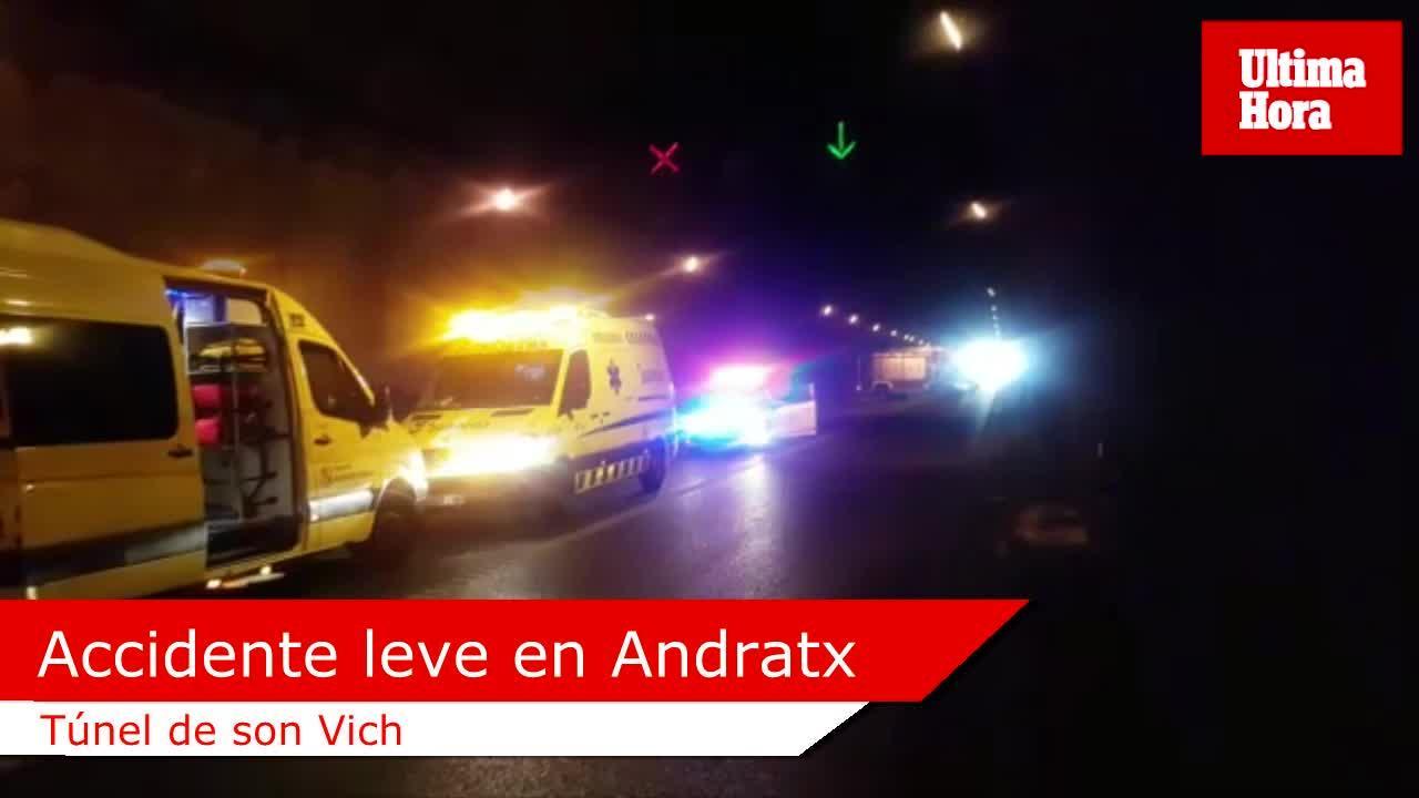 Un accidente obliga a cerrar el túnel de son Vich, en Andratx