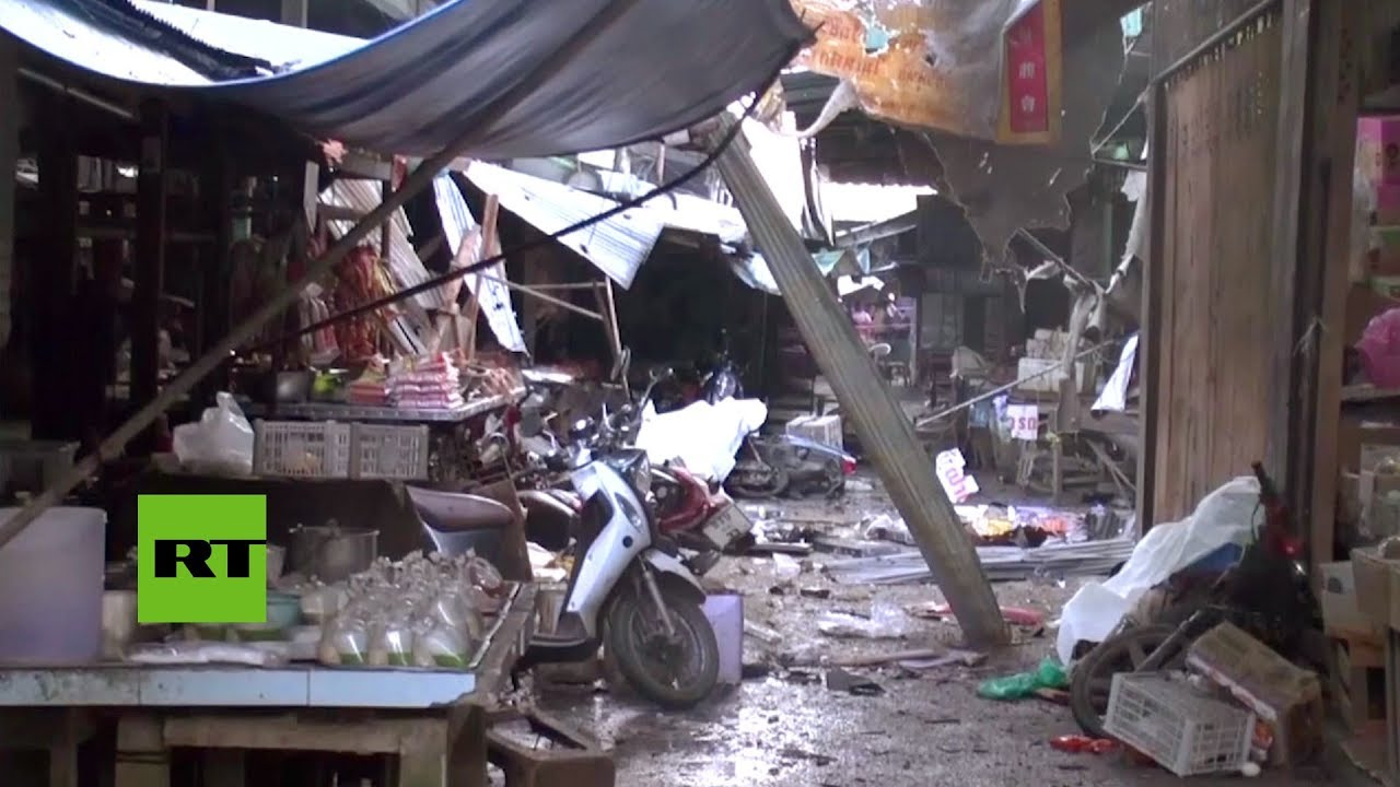 Al menos 3 muertos al estallar una bomba en un mercado en el sur de Tailandia