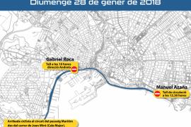 Cortes de tráfico el domingo por la llegada de la Challenge Ciclista a Palma