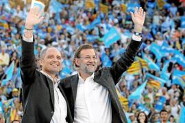 Al contrario de lo que hizo en Palma, Rajoy no menciona la corrupción en Valencia