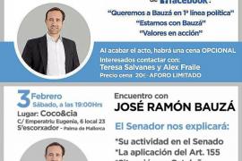 Tirón de orejas del PP a Bauzá, que cambia los 'motivos' del acto del próximo 3 de febrero