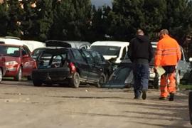 Un conductor muerto y otro herido grave tras un choque frontal en Santa Eulària