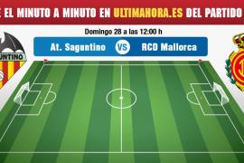 Atlético Saguntino-Real Mallorca, en directo