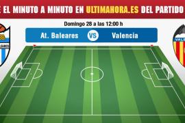 Atlético Baleares-Valencia Mestalla, en vivo