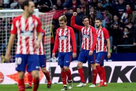 El Atlético de Madrid golea a Las Palmas en la última media hora