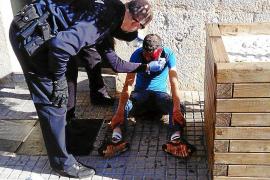 Un joven resulta herido en la cabeza con un cuchillo en una reyerta en sa Pobla