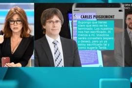 Los reveladores mensajes de Puigdemont: «Los nuestros nos han sacrificado, al menos a mí»