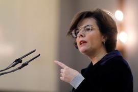 Sáenz de Santamaría confía en que Torrent busque un candidato alternativo a Puigdemont