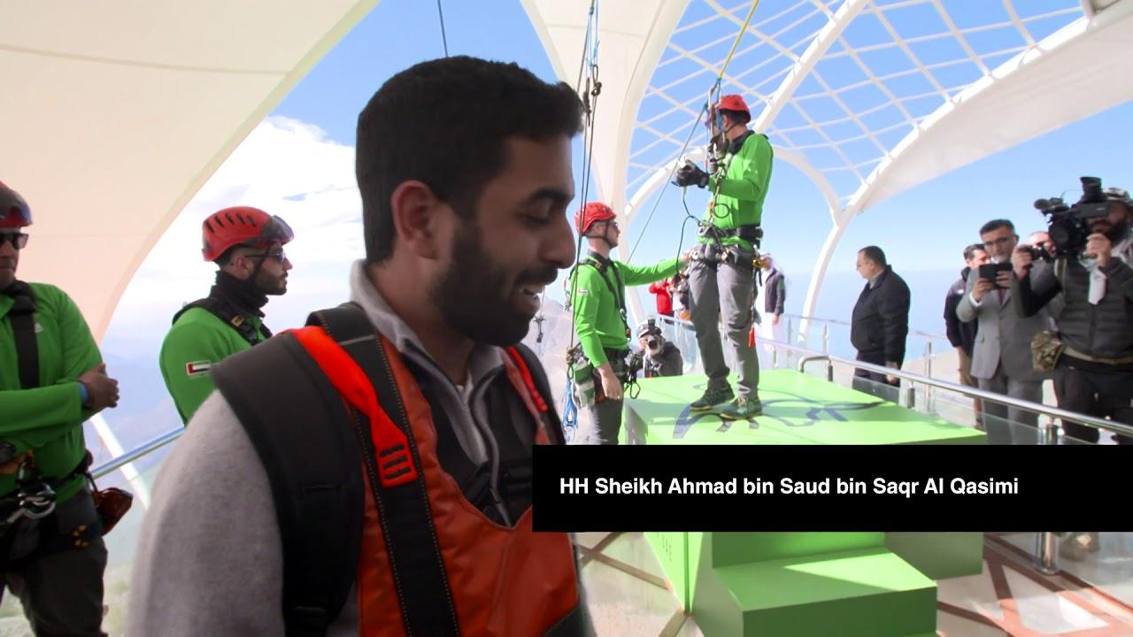 Volar en la tirolina más larga del mundo ya es una realidad en los EAU