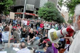 Respaldo ciudadano a la protesta de los 'indignados' en Palma