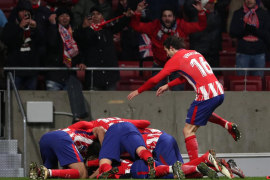 El Atlético de Madrid aún cree en la liga