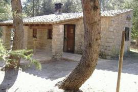 El refugio del Gorg Blau, entre el Puig Major y el Puig de Masanella