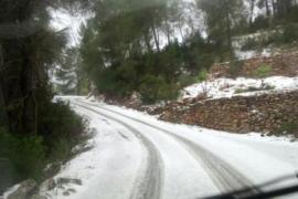 La nieve también llega a la isla de Ibiza