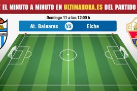 Atlético Baleares-Elche, en vivo