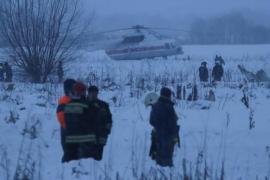 71 muertos al estrellarse un avión en Moscú