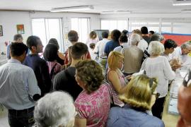 Las cabinas no pudieron asegurar la intimidad del votante en Mallorca