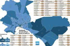 El centro y la periferia de Palma, los 'graneros' del Partido Popular