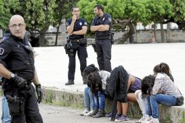 Seis detenidos tras una batalla campal entre bandas latinas en un parque de Palma