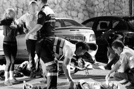 Cinco hospitalizados y un detenido son el resultado de una madrugada muy accidentada en Palma