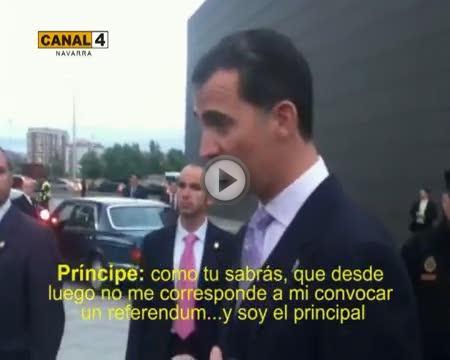 Una republicana increpa al Príncipe de Asturias