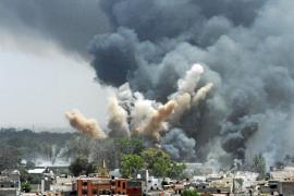 Más de 50 proyectiles de la OTAN alcanzan el palacio de Gadafi en Trípoli