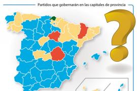 IU tiene en sus manos dar al PSOE o al PP más de 280 ayuntamientos