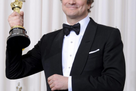 El actor Colin Firth, comandante de la Orden del Imperio Británico