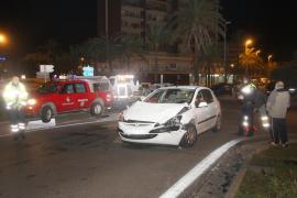 Tres heridos en un accidente causado por un conductor bebido en la Platja de Palma