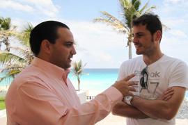 Casillas graba un spot para promocionar el Caribe mexicano