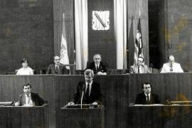 PALMA - ANTIGUA IMAGEN DEL PRIMER GOVERN DE LES ILLES BALEARS HACE 25 AÑOS.