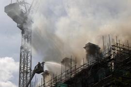 Un incendio daña un hotel en construcción de la cadena Meliá en Londres