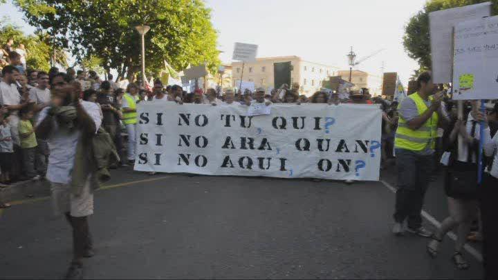 Unos 6.000 'indignados' toman el centro de Palma