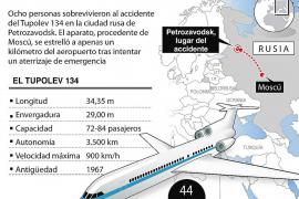 Mueren 44 personas al estrellarse un avión Tupolev en el noroeste de Rusia