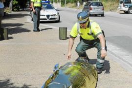 Un motorista de 50 años muere en accidente de tráfico en Portals